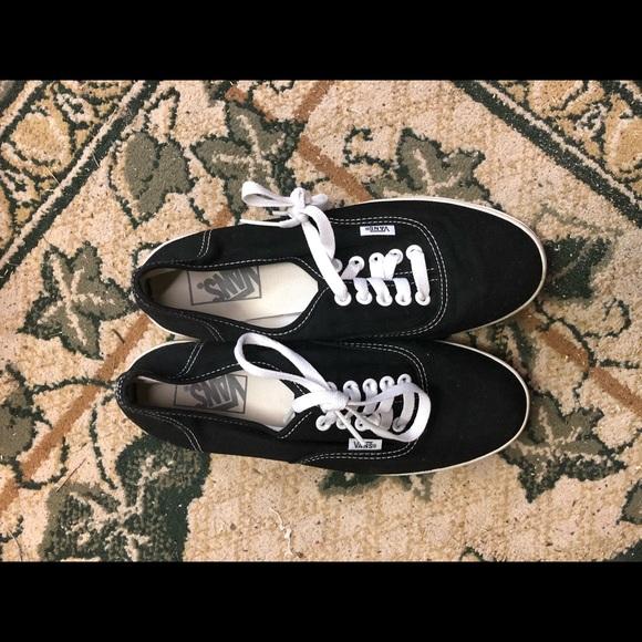 Vans Shoes | Black Womens Size 75 Mens
